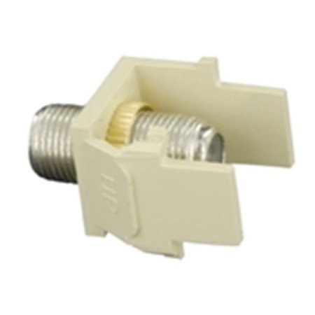 Leviton 40731-BT QuickPort Snap-In Module, with Female-Female, F Connector, Light - Snap Quickport