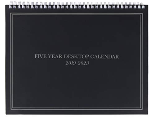 5-Year Calendar Planner - 2019-2023 Monthly Schedule Organizer Desktop Flip Calendar with Tabs, Top Spiral Bound, 5 Year Agenda, 11 x 8.5 inches (Drake Top Five Top Five Top Five)