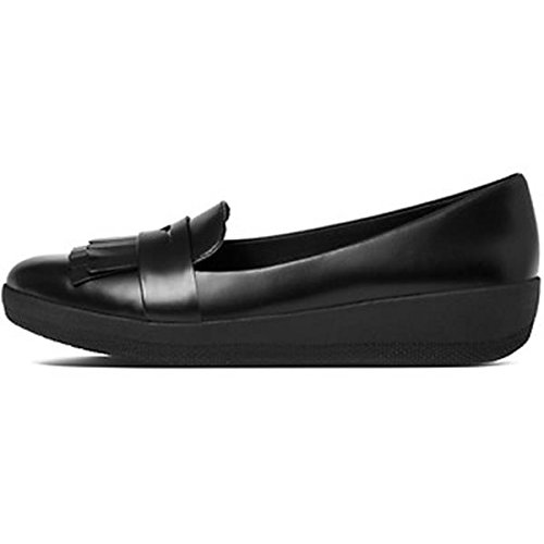 FitFlop Mujer Negro Fringy SneakerLoafer Zapatos Negro