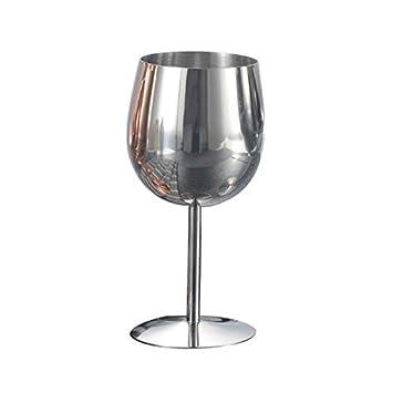 G.TZ-Wine Glass Copas De Vino De Acero Inoxidable Vasos De ...
