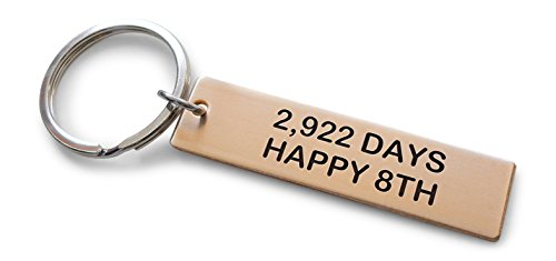 (Bronze Tag Keychain Engraved with