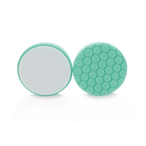 Chemical Guys BUFX_103_HEX6  Hex-Logic Heavy Polishing Pad, Green (6.5 Inch) by Chemical Guys (Image #3)