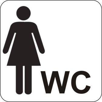 Cartel - pictograma - aseo para mujer: Amazon.es: Hogar