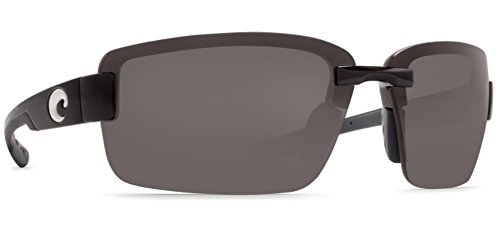 Costa Del Mar Galveston Polarized Sunglasses, Black, Gray 580P by Costa Del Mar