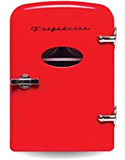 Frigidaire Retro Mini Compact Beverage Refrigerator, Perfect for Home, Office, or Cars. Includes Plugs for Home Outlet & 12V Car Charger - RED