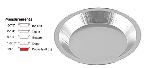 Handi-Foil 9\u0026quot; Smooth-Wall Aluminum Pie Pan Plate Tin -Heavy Duty  sc 1 st  Amazon.com & Amazon.com: Handi-Foil 9\