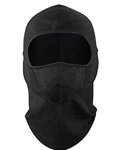 masque facial en noir parfait pour l'hiver et les sports