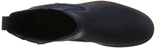 Clarks Women's Orinoco Club Chelsea Boots, Blue, 3.5 UK Black (Navy Nubuck)