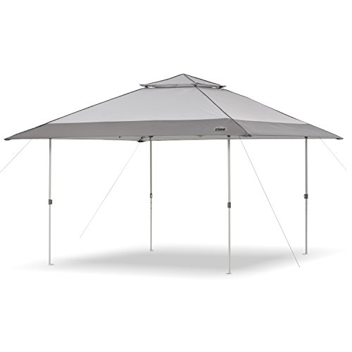 CORE 13′ x 13′ Instant Shelter Pop Up Canopy Gazebo Tent for Shade in Backyard, Party, Event with Wheeled Carry Bag, Gray