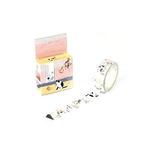 Flowers Cartoon Masking Washi Tape Decorative Adhesive Tape Decor,O
