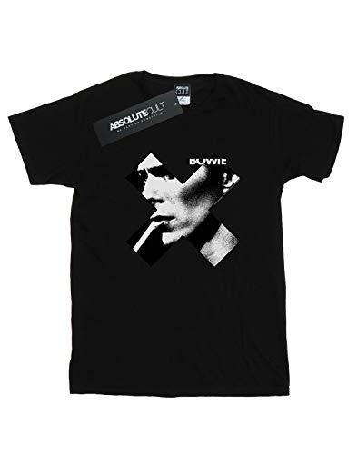 Bowie Fit David Donna Boyfriend Cult Nera Absolute Smoke Maglietta Cross qfc4TW