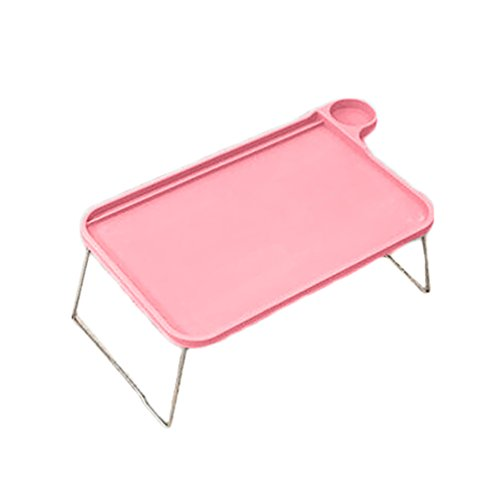 Floralby Sofa Bed Tray Table with Folding Legs Laptop Breakfast Bed Tray for Eating Studying (Holder Cup With Tray Breakfast)