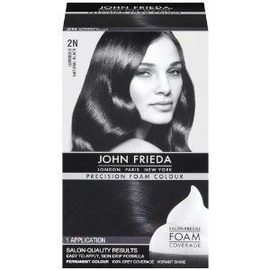 John Frieda Precision Foam Colour 2N Natural Black (Pack of 2) -