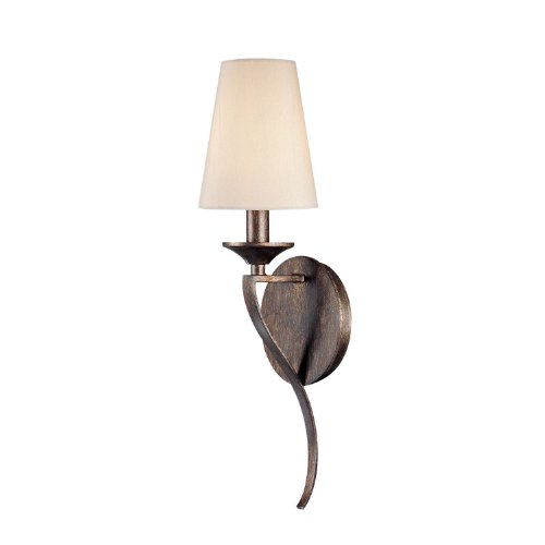 (Capital Lighting 4331RT-523 Wall Sconce with Beige Fabric Shades, Rustic Finish)