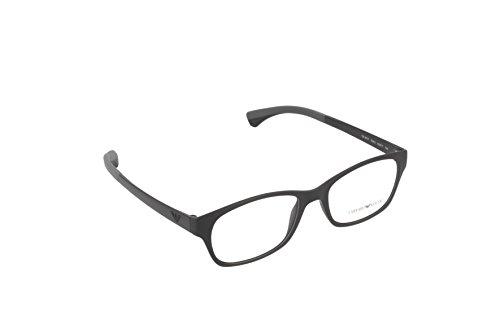Emporio Armani Montures de lunettes 3017 Pour Homme Matte Black, 50mm 5042: Matte Black