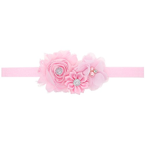 Ld Dress Lovely Baby Girl Headbands Rhinestone Flower Princess (28) (Color Pink), 13 - Princess Pink Flower Rhinestone