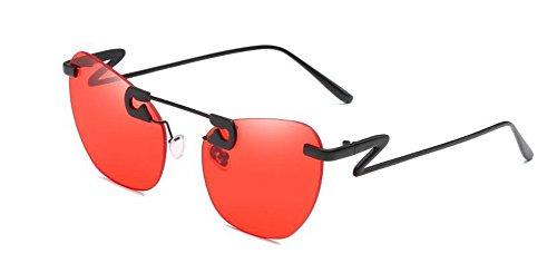 soleil rond style retro cercle en polarisées Rouge de inspirées Film Lennon du lunettes métallique vintage F15pqw7