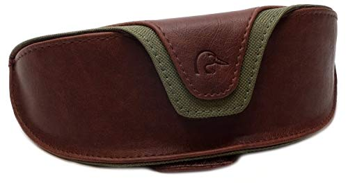 Ducks Unlimited Leather Sunglass Case with Velcro Belt ()