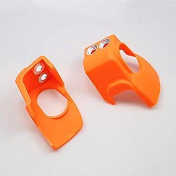 BHYShop Kit de protecci/ón de Protector de Zapata de Horquilla Cubierta amortiguadora para Motocicleta Husqvarna TC125 250 FC250 KT-M SX 125150250 Naranja