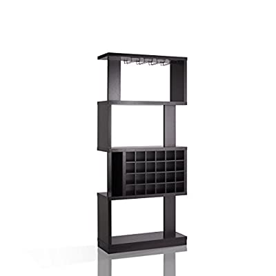 HOMES: Inside + Out IDI-14989 Larson Wine Stand Cappuccino Contemporary