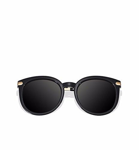 de espejo de chica la box en las redonda Gafas XIAOGEGE moda cara Negro gafas big el En sol oro de sol gafas vqB7ZwA