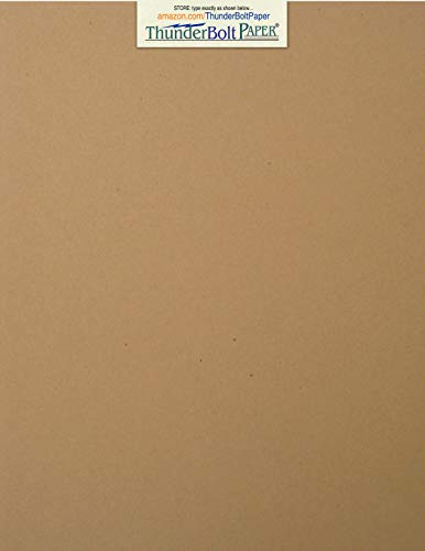 - 150 Brown Kraft Fiber 80# Cover Paper Sheets - 8.5