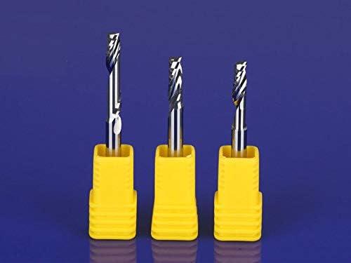 GENERICS LSB-Werkzeuge, 10 STÜCKE Einnutenfräser for Aluminium CNC-Werkzeuge VHM CNC-Fräser Fräser, Aluminium-Verbundplatten (Dimensions : 3.175x6mm)