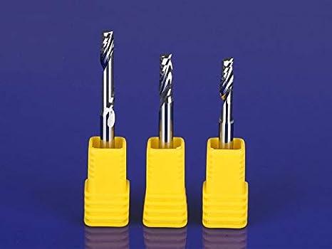 10PCS Single Flute Milling Cutters for Aluminum CNC Tools Solid Carbide CNC Flat End Mills Router bits,Aluminum Composite Panels Size : 3.175x2.5x6mm Nologo HUHUI-PDXIDAO