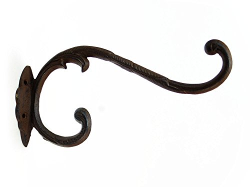 (Upper Deck Cast Iron Victorian Style Double Hook)