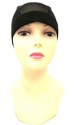 Mesh Dome Wig Cap Black (Magic Fabric Sheer)