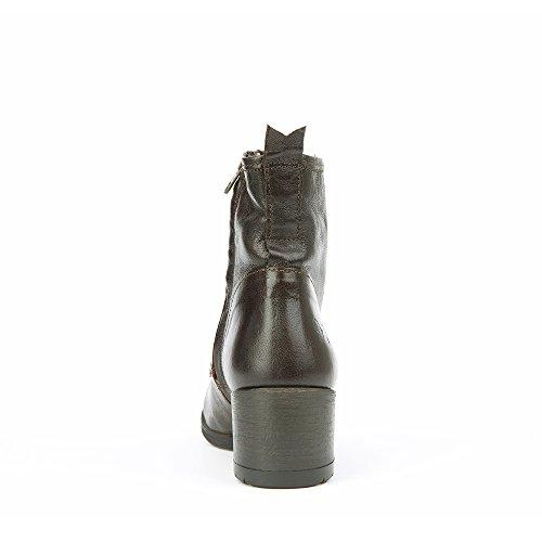 Felmini - Damen Schuhe - Verlieben Ramses 9332 - Schnürung Stiefel - Echte Nubukleder - Braun