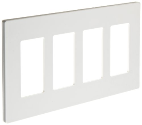Gang Snap (Morris Products 80916 Decorator Wallplate, Screwless, Snap-In, White, 4 Gang)