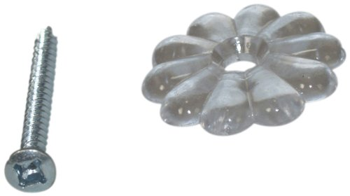 Small Rosette - AP Products 012-RTCR100 Clear Rosettes with Screw - Pack of 100