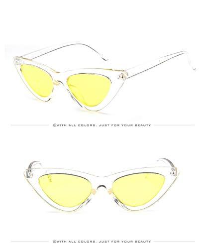 Fliegend Soleil Lunettes Lentilles de Cateye Miroir Léger Homme Mode Wayfarer Lunettes Soleil Soleil UV400 C4 de Lunettes Unisexe Transparentes Femme Polarisées de rqaEr