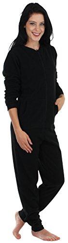 Sleepyheads Women's Adult Non Footed Fleece Color Onesie Pajama Jumpsuit (SH1018-1011B-LRG)
