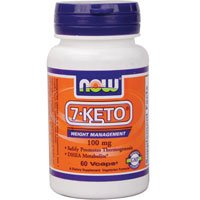 Now Foods 7-KETO DHEA Metabolite, 60vcaps 100 mg (Pack of 6)