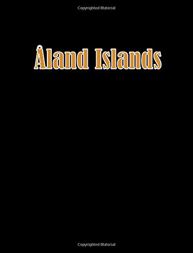 Aland Islands: 8.5 x 11 bullet journal 100 dotted notebook pages