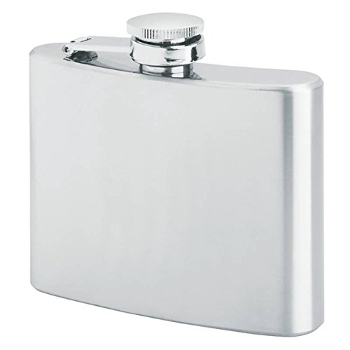 Primo 18/8 Stainless Steel Premium Hip Liquor Flasks, 4 - 4 Flask Ounce Hip