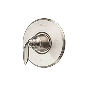 Pfister R89-1CBK Avalon One-Handle Tub and Shower Valve Trim, Brushed Nickel
