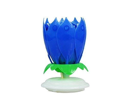 Buy cheap multiple color rotation music birthday candles blue