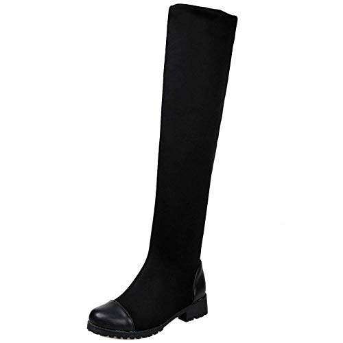 Comfort Comfort Comfort Tacco Tacco Tacco Tacco Thigh High COOLCEPT Boots Donne Basso Nero z7Hqww6x5