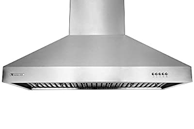 XtremeAir UL03 Wall Mount Range Hood with 900 CFM Baffle Filters/Grease Drain Tunnel