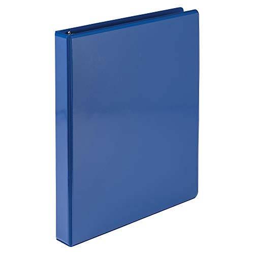 Samsill Economy 3 Ring Presentation View Binder, 1 Inch Round Ring - Holds 200 Sheets, Customizable Clear View Cover, Cobalt ()