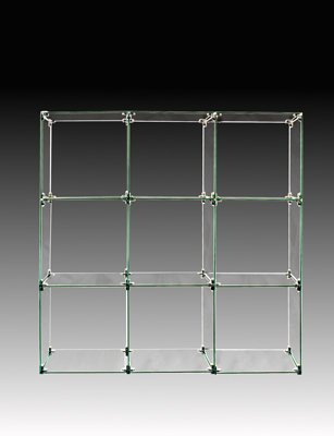 Display 12 Cube (9 Cube Glass Display Unit - 12