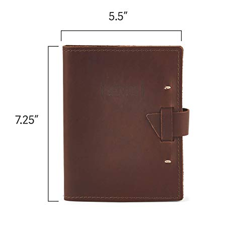Top Grain Leather Beer Tasting Log Book/Dossier With Templated Pages (Saddle)