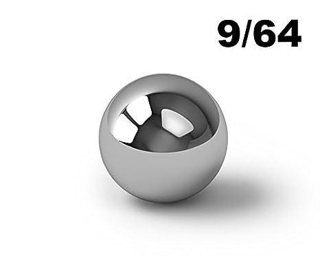 9//64 Inch 440 Stainless Steel Ball Bearings G25-200 Balls