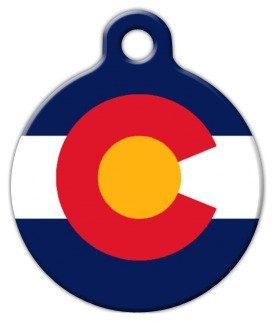Colorado Flag - Custom Pet ID Tag for Dogs and Cats - Dog Tag Art - SMALL SIZE by Dog Tag Art