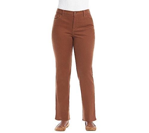 Gloria Vanderbilt Women's Petite Amanda Classic Tapered Jean, Raw Sienna, - Stretch Brown Jeans
