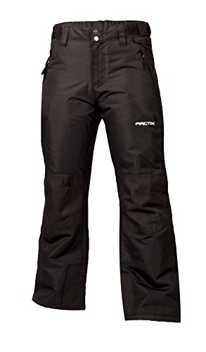 Arctix Youth Snow Pants with Reinforced Knees and Seat, Black, Medium (Snowboard Black Pants)