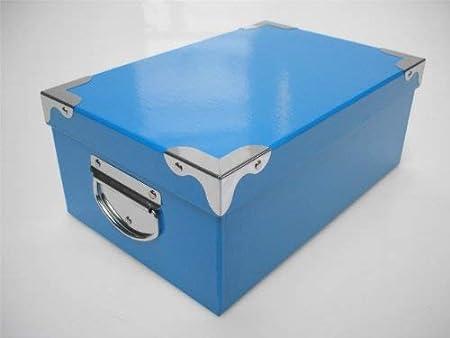 DISEÑO DE ALMACENAMIENTO CAJAS DE CARTÓN DURO DE NEÓN DEL ARTE DE LA CAJA DE REGALO DE CUMPLEAÑOS, azul, Box 16 Blue: 54x38x19cm: Amazon.es: Hogar
